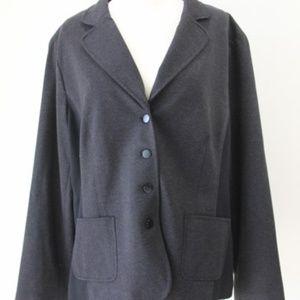 Chicos Ponte Knit Jacket Women Coat NEW Classic